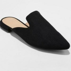 A New Day Women's Velma Slip On Pointy Mules Black